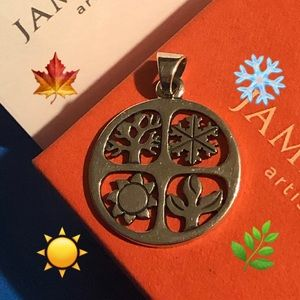 Retired James Avery Four (4) Seasons pendant